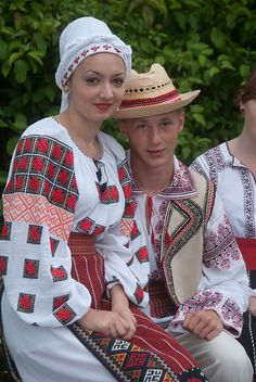 Folk costume - Romania - Image by Denis' Life Folk Costume, Costumes, Ethnic Fashion, Traditional Dresses, Beauty Women, Planets, Culture, Popular, People
