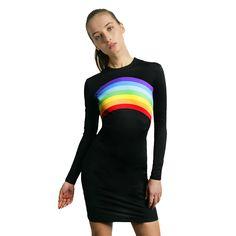 bd754e9cc1617 BLACK RAINBOW DRESS 86% POLYAMIDA 14% SPANDEX Talla-size EU US UK S 36 4 8  M 38-40 6 10 L 42 10 14