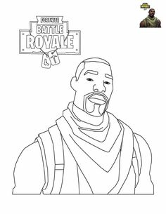 Printable Fortnite Coloring Pages Commando