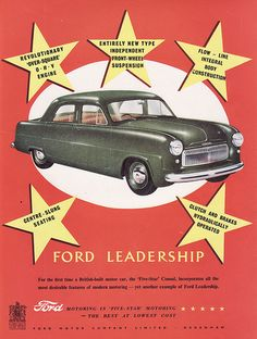 1951 Ford Consul Mk1 Ad - England | Covers a Ford Consul Mk1… | Flickr