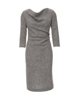 Women's cowl dress Burda sewing pattern. Love the simple but flattering styling.