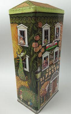 Casa Di Pasta Tin 1997 Olive Can Company & The Silver Crane Company U.S.A.
