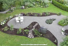 This is a good idea for the fire pit area and that problem area. Gravel Garden, Garden Landscaping, Landscape Design, Garden Design, Fire Pit Area, Garden Inspiration, Garden Ideas, Garden Bridge, Beautiful Gardens