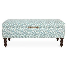 Exclusive to One Kings Lane: Style and storage blend seamlessly on this chic upholstered bench. An ideal addition to the foot of a bed or in a living room. Thanksgiving Sale, Bench Designs, Bench With Storage, Storage Benches, Upholstered Bench, Fabric Storage, Club Chairs, T 4, Office Decor