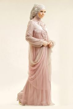 """Very lovely and romantic take on the """"Muslim Wedding Dress"""" - it is just so modest and feminine!"""