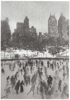Wollman Rink, Central Park, New York, 1954 by Edward Pfizenmaier.