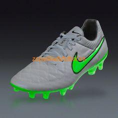 Descuento Zapatillas de Soccer Nike Tiempo Legend V FG Lobo Gris Verde  Huelga Negro Plateado Football 1140ca6b720ad