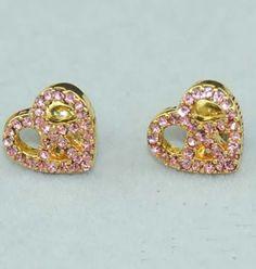 Juicy Couture Pink Heart Earrings