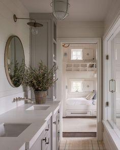 "M. Elle Design on Instagram: ""Bathroom envy 🤍 Design by @m.elle.design Architecture by @_kaa_design Photography by @shadedeggesphotography #melledesign…"" Cheap Beach Decor, Cheap Wall Decor, Cheap Home Decor, Gothic Home Decor, Victorian Decor, Cheap Bathrooms, Amazing Bathrooms, Small Bathrooms, Cute Home Decor"