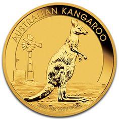 2012 1 Oz. Australian Gold Kangaroo .9999 Fine Gold