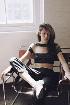 Caroline Polachek of Chairlift [@Chairlifted], in Vena Cava for Vogue AU