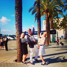 Mallorcan oppaat valmiina! Oppaan jokaviikkoisiin rutiineihin kuuluu asiakkaiden vastaanottaminen lomakohteen lentokentällä. Holiday is where the Heart is! www.tjareborg.fi/matkaopas