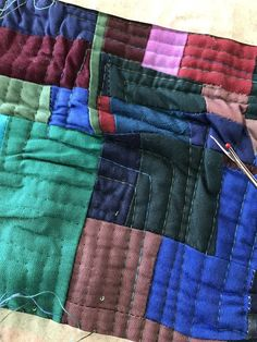 quilts und mehr: auftrennen / to rip Quilt Art, Inchies, Blanket, Blog, Blogging, Blankets, Cover, Comforters