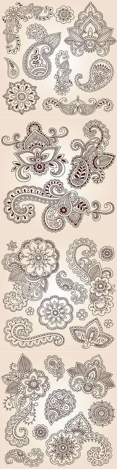 Paisley - шаблоны для росписи | Варварушка-Рукодельница | Ирландское кружево. | Постила