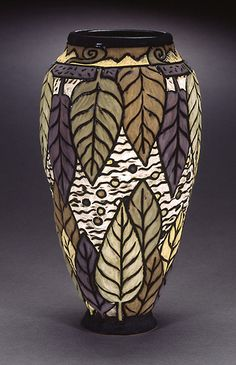 Beautiful carved clay vase by Deb LeAir