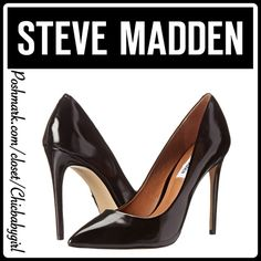 "STEVE MADDEN PROTO PUMP The pointed toe pump to die-for and add that sassy-chic look to any outfit. These leather heels wilł get you where you need to go in style. Looks awesome with your office attire or street-savvy style. Cushioned foot bed Heel Height 4"" Steve Madden Shoes Heels"