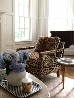 leopard velvet chair.