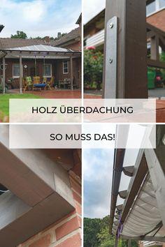 Die Terrassenüberdachung aus Holz ist eine klassische aber immer noch stilvolle Option, sich vor Sonne und Regen auf der Veranda zu schützen