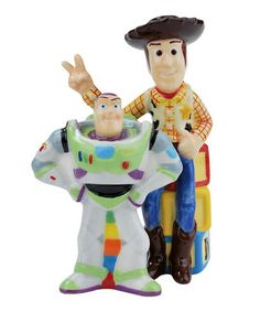 Take a look at this Buzz & Woody Salt & Pepper Shaker by Littlest Chefs: Kitchen Gifts on #zulily today!