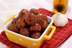 Honey Garlic-Glazed Meatballs ~ Made these for SuperBowl Sunday...Delicious!