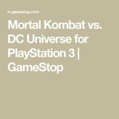 Mortal Kombat vs. DC Universe for PlayStation 3   GameStop