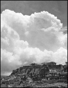 Monuments, Athens, Old Photos, Photographers, Greece, Clouds, Memories, Explore, Black And White