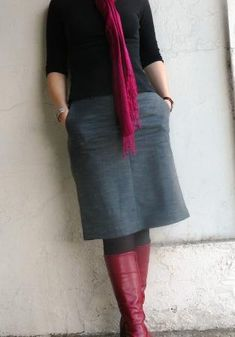 These wide-legged pants have always been a little too short in the leg and the crotch. I put up with this till they stopped fitting me round the hips, and then they languished in the cupboard waiti…