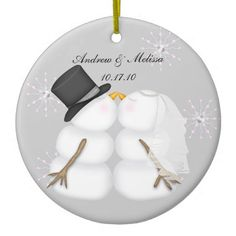 Kissing Snowmen Married Our First Christmas Christmas Tree Ornament // to keep in mind