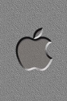 iPhone Background Gray Apple Logo Wallpaper
