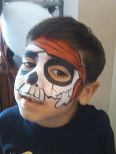 Dead pirate boy face painting