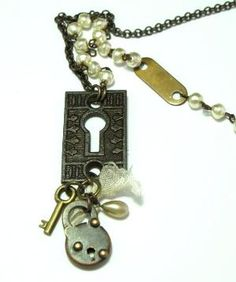 Vintage collection long necklace exclusive design by Mystic Pieces #steampunk #jewelry #mysticpieces #