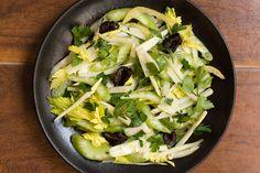 insalata di sedano finocchi e prezzemolo