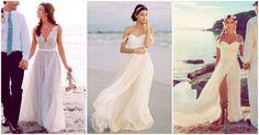Vestidos de novia ideales para la playa ¡que te fascinarán! - Yo amo los zapatos