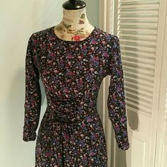 Vintage Switch Front Corset Floral Dress Beautiful long sleeve vintage floral front corset  dress size 5 by the brand Switch. Has this Victorian era vibe to it. In excellent condition. Measurements are as follows: 45' long / 18' bust / 17 1/2' sleeve length.  Please lmk if you have any additional questions. Serious buyers only. Vintage  Dresses