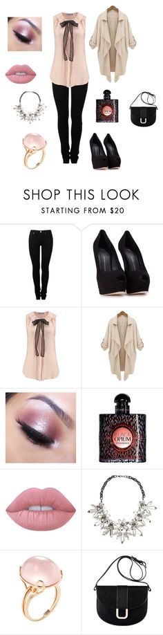 """""""first time univeristy"""" by sarah4ever123 ❤ liked on Polyvore featuring MM6 Maison Margiela, Giuseppe Zanotti, Too Faced Cosmetics, Yves Saint Laurent, Lime Crime, John Lewis, Goshwara and A.P.C."""