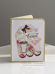 Handmade card by Michele Ferguson using the Coffee set from Verve. #vervestamps #coffeelovingpapercrafters