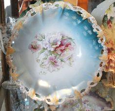 RS Prussia Bowl Antique German Porcelain Victorian 1900's Home Decor Cottage Chic Romantic Elegant Art Nouveau Porcelain Wedding Gift