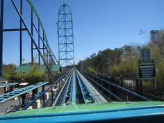 Kingda Ka @ SIX FLAGS, NJ--the TALLEST roller coaster in the WORLD with a drop of over 400 feet. Here's a Front seat on-ride POV --Youtube video (only 1 minute & 15 seconds long)
