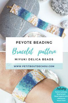 Peyote Beading, Beaded Bracelet Patterns, Pdf Patterns, Beading Patterns, Abstract Pattern, Abstract Art, Craft Tutorials, Craft Ideas, Necklaces