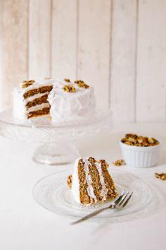 Vegan Frosted Walnut Cake