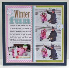 cold weather projects-scrapbooking