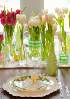 Easter Table Decorations by Lindi Haws of Love The Day Easter Table Settings, Easter Table Decorations, Easter Centerpiece, Easter Decor, Bunny Crafts, Easter Crafts For Kids, Easter Ideas, Valentines Illustration, Easter Party
