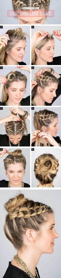 Chic Shoelace Braid tutorial