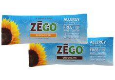 A line of gluten-free, allergy-friendly energy bars is debuting from Zego, a maker of healthy snacks. Made with organic sunflower seeds, the nut-free, soy-free and dairy-free Zego bars are available in two varieties: chocolate and sunflower. Ingredients include quinoa, brown rice syrup and pea protein.