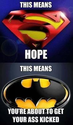 This is why batman is better than superman