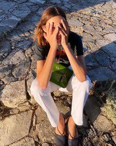 "Alexa Chung Club 🍒 on Instagram: ""Mallorca ☀️ #alexchung"" Alex Chung, Alexa Chung Style, Style Icons, Editorial Fashion, My Girl, White Jeans, Capri Pants, Style Inspiration, Photoshoot"