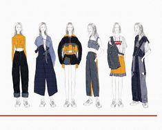 levi s x arts thread design competition 2018 259097784797550074 Fashion Design Sketchbook, Fashion Illustration Sketches, Fashion Design Drawings, Fashion Sketches, Fashion Design Illustrations, Fashion Artwork, Drawing Fashion, Moda Fashion, Fashion Line
