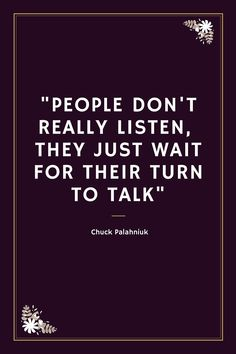 This is the truest statement . . . Very few people listen to comprehend.  They listen to respond. #sad