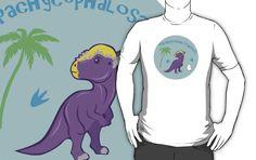Cute Pachycephalosaurus T-Shirts and Hoodies #pachycephalosaurus #dinosaurs #purple #cute #jurassic