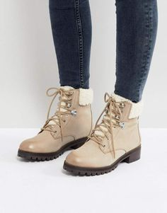 1903c98085 Aldo Uleladda Leather Lace Up Hiker Boot in Taupe